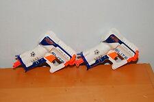 Lot of 2 Nerf NERF N-Strike Elite Triad EX-3 White Blue Orange
