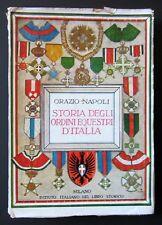 Napoli STORIA ORDINI EQUESTRI D' ITALIA 1936 cavalieri araldica militaria CISARI