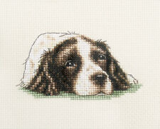 LIVER SPRINGER SPANIEL DOG ~ Full counted cross stitch kit + All materials