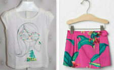 """NEW BABY GAP """"CUTE GIRL"""" WHITE TOP & SKORT SKIRT OUTFIT 3T NWT"""