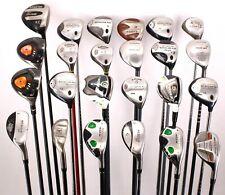 Lot of 24 Golf Fairway/Hybrid Woods Callaway Nickent TaylorMade Adams Right Hand
