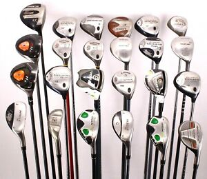 Lot of 24 Golf Fairway/Hybrid Woods Callaway Nickent TaylorMade Adams Right Hand
