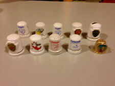 Lot of Ten (10) State Thimbles