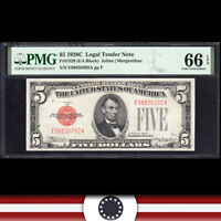 1928-C $5 LEGAL TENDER NOTE *E-A Block* PMG 66 EPQ  Fr 1528   E98836392A
