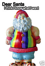 "Rainbow Santa Claus Fridge Magnet 3.25""x2.25"" Collectibles (PMD11007)"