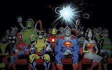Marvel Comic Superhero At Cinema Cartoon Character Art  Canvas Picture 20x30inch