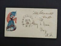 Civil War: Portsmouth NH (1861) Patriotic Cover Edwards Congressional Free Frank