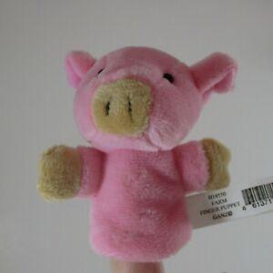 zzP Pink Pig FARM LIFE FINGER PUPPET Ganz plush new