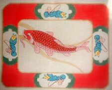 MZC Oriental Koi Fish Elizabeth Turner HP Hand Painted Needlepoint Canvas