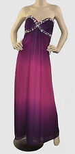 Onyx Nite NWT Strapless Embellished Long Formal Dress  Purple Fuchsia Ombre 2