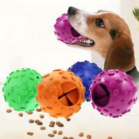 KQ_ Dog Food Ball Interactive Spill Food Dispensing Boredom Chew Toy Molar Feedi