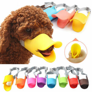 Anti Bite Muzzle Washable Soft Cozy Dogs Silicone Duck Mouth Cover Pet Supplies