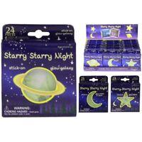 STARRY NIGHT GLOW IN THE DARK GALAXY MOON STARS SPACE STICKY BACK TY/5903