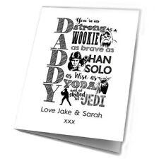Dad Geburtstagskarte Vatertag Star Wars Geschenke Väter Vater Personalisiert