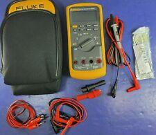 Fluke 87V TRMS Multimeter, Excellent, Screen Protector, Case, Accessories