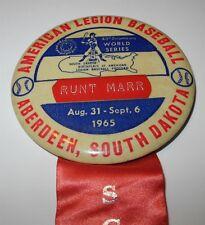 1965 Baseball Pin Coin Aberdeen SD American Legion Scout League Booster Pinback