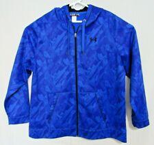 Under Armour Men's Full Zip Hoodie Hooded Sweatshirt Size 2XL XXL Blue Pattern