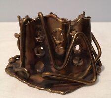 Vintage Contemporary Metal Art Sculpture Tabletop Pierced Design Hand Made Usa