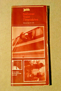 Amtrak National Timetable - April 30, 1978
