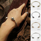 Skull Bracelet Bangle Silver, Gold or Black Gothic Halloween Bohemian A176
