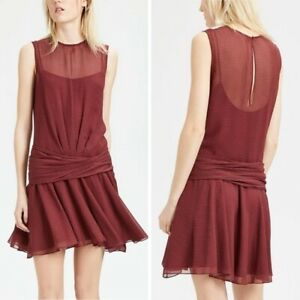 Theory Dot Print Flounce Silk Dress Size S 500$