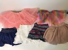 6 Girls Size 4T/5T Skirts Shorts Summer Clothing Lot Gap Gymboree Garanimals Etc
