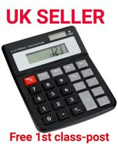 8 DIGIT DUAL POWER DESKTOP CALCULATOR SOLAR & BATTERY UK SELLER