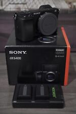 Sony Alpha a6400 Mirrorless Digital Camera (Body Only) With Extra Batteries