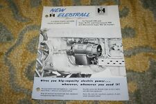 International Harvester IH McCormick Farmall Electrall Brochure 1955 NEAT!
