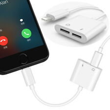 2017 2in1 Double Lightning Audio Charge Adapter Cable for Ios11 Iphone7 Plus 7 8