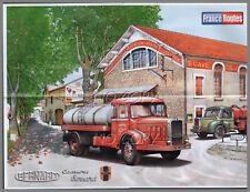 POSTER CAMION RéTRO CITERNE VIN BERNARD CAVE de SAINT SAENS GARD   56X42cm