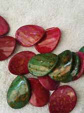 10 Large  Pattern Beads Size 43 x 32mm For Craft and Jewellery