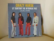 VINYLE 45 T CRAZY HORSE ET SURTOUT NE M'OUBLIE PAS