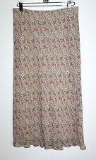 NEXT - UK 12 - US Womens Size 8 (M) - NWOT - Beige Floral Print Midi Skirt