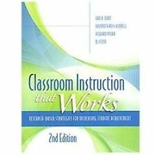 Classroom Instruction That Works : Research-Based Strategies for Increasing Stu…