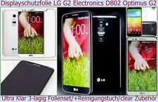 2x Kristall Klar Clear Ultra crystal Display Schutz Folie LG G2 OPTIMUS D802 LTE