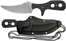 Cold Steel Mini Tac Skinner Fixed Blade Knife w/ Secure-Ex Neck Sheath 49HSFZ