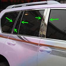 Stainless Steel Chrome Door Pillar Trim For Toyota LC Prado FJ150 2014-2017