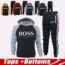 Herren Jogging Hoodie Anzug Trainingsanzug Sweatshirt Hose 2 Sätze Sportanzug DE