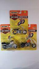 Matchbox Harley Davidson 1:18 Chopper Sportster Electraglide Motorcycles 1993