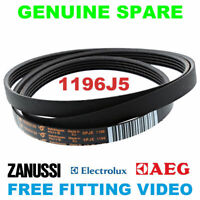 ELECTROLUX Washing Machine Drive Belt 1196J5 Genuine - 1323531200