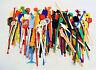 LOT OF 194 VINTAGE ASSORTED ADVERTISING SWIZZLE STIR STICKS