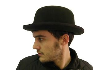 NEW Classic Vintage Style Formal Event Business Wool Brown Bowler Hat S M L XL