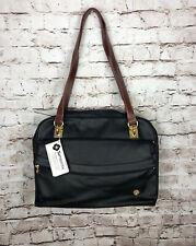 Samsonite Luggage Handbag Shoulder Bag Travel Black and Brown Faux Leather