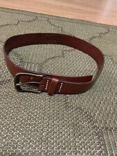 Gymboree Boys' Size Medium Brown Leather Belt Euc