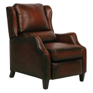 POWER Barcalounger Berkeley II Stetson Bordeaux Leather Recliner Lounger Chair