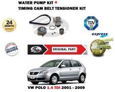 VW POLO 1.4 TDI 9N 2001-2009 GATES TIMING CAM BELT TENSIONER KIT + WATER PUMP