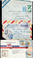 World Airmail Postal History Covers Spain Columbia Argentina WS10644