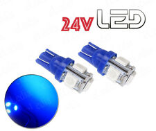 2 Ampoules W5W T10 5 LED 24V Bleu Camion SCANIA IVECO RENAULT VOLVO MAN TRUCK
