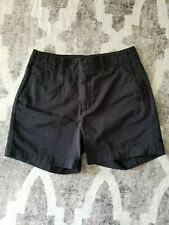 Calvin Klein black high waist chino shorts 100% cotton size 2